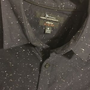 Marc Anthony Navy Blue speckled Button Down